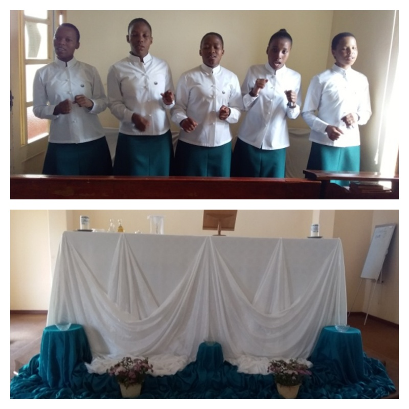 The entry of the five postulants into novitiate, at St. Rose, Peka