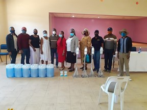 Former Students of Mabathoana Donate Sanitizer